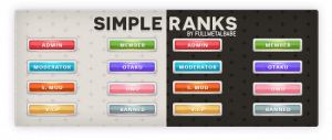 Simple Ranks - By FullMetalBabe