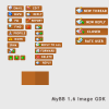Dull Orange Default Button Set