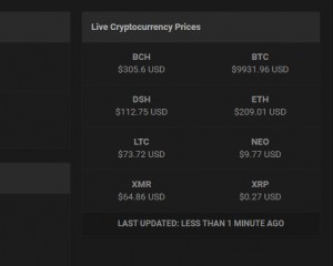 Live Cryptocurrency Prices