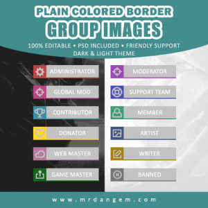 Plain Colored Border Group Images