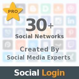 Social Login, 35+ Social Networks