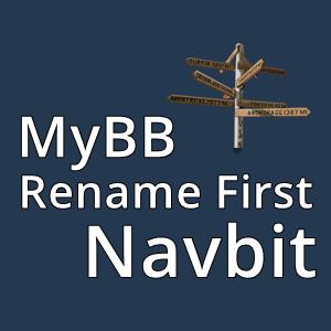 MyBB Rename First Navbit
