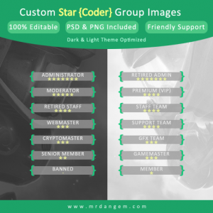 Custom Star Coder Group Images