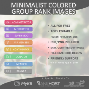 Minimalist Colored Group Rank Images