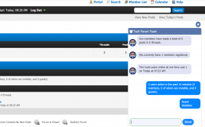 MyBB Forum Team Live Chat Plugin