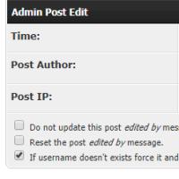 Administrative Beitragsoptionen (OUGC Admin Post Edit)