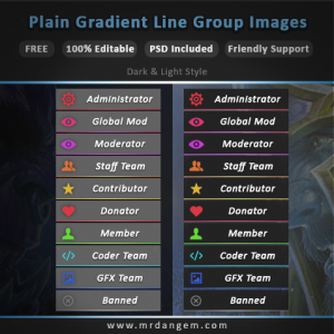 Simple Gradient Line Group Images