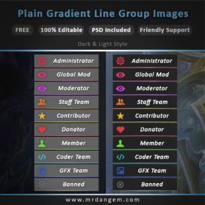 Simple Gradient Line Group Images