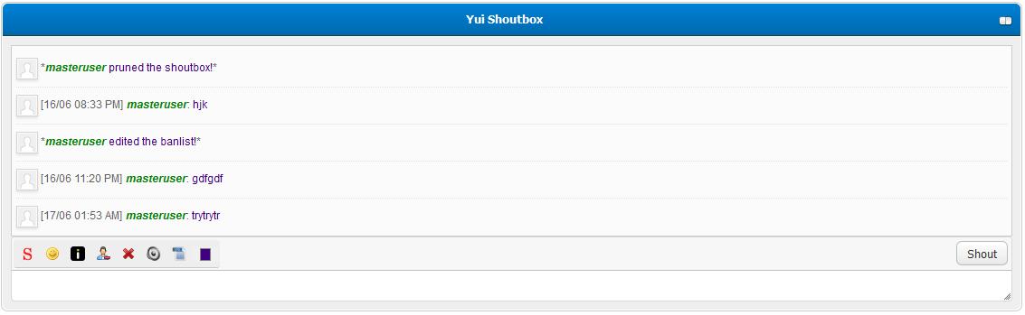 Yui Shoutbox für MyBB 1.8.x Erweiterungen
