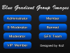 (120x30) Blue Gradient Usergroup Bars