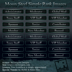 Mossy Steel Simple Rank Images